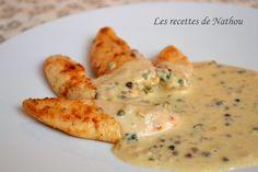 Les recettes de Nathou: Aiguillettes de poulet sauce au poivre vert