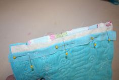 Quilt As You Go ~ do not have to sew extra little strips on blocks to sew them together.