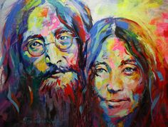 Yoko Ono and john Lennon by Jos Coufreur