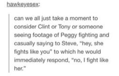 Steve and Peggy. I had to take a second because that was so freaking cute.