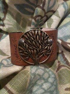 Handmade Leather bracelets.  Kerr-Ranch.com    <3