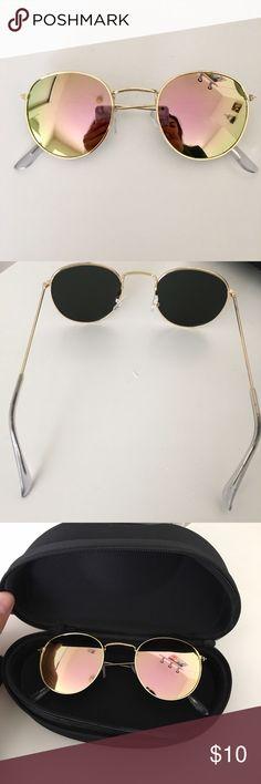 31e367b3d8f Round sunglasses Super cute and fun round lens sunglasses! Comes with a  case. Not