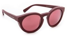 Marsala Pantone Color of the Year via Eyedolatry Marc Jacobs Sunglasses Bold Mirrored Sunglasses