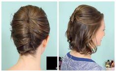Kayley Melissa es una genia de los peinados, en esta ocasión comparto con ustedes un tutorial especial para las chicas con cabello corto - ¡Anímense a peinarse ustedes mismas!