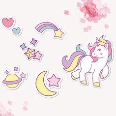 Kit imprimible Unicornio en internet