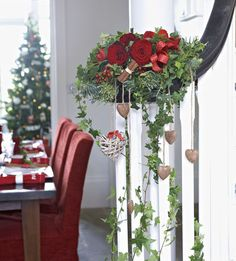 Order flowers online from Interflora. Christmas Wreaths, Merry Christmas, Christmas Decorations, Table Decorations, Holiday Decor, Beautiful Flower Arrangements, Beautiful Flowers, Rose, Handmade