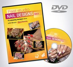 "Nail Designs DVD DVD ""Fast Studio Nail Designs Vol 15 fabulous designs made with Mosaic Gel Paints. Subtitles in English! Nail Studio, Vol 2, Dvd, Gel Nails, Mosaic, Nail Designs, Nail Art, English, Nice"