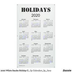 2020 White Smoke Holiday Calendar by Janz Banner