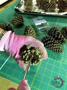 How to prepare pine cones for crafts. This method works for wreaths, garlands & Christmas Trees.