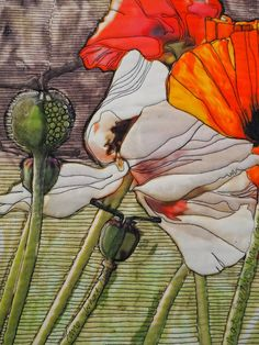 Laura Kemshall Detail of art quilt, What Dreams May Come 2