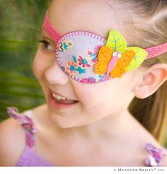 Personalizar o tampão de olhos, pode ser divertido, além de bonitinho!