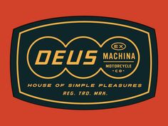 Here's a dribbble! Recent work for long-time client Deus Ex Machina, motorcycles and apparel