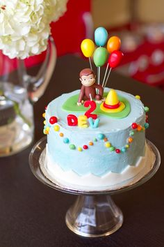 Curious George cake.