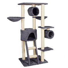 happypet cat015 2 arbre chat griffoir grattoir 230. Black Bedroom Furniture Sets. Home Design Ideas