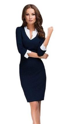 Great deal on this modest, business, professional dress. This would be great to wear to church or work!