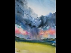 How to Paint a Dramatic Sky in Watercolor - YouTube