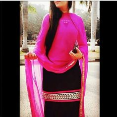 Punjabi boutique suit...black and pink ..