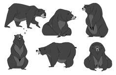 Sleepy bear sketches - Derek Stratton