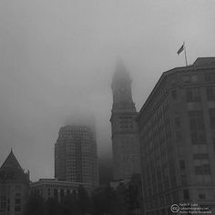 Custom House Fog Old Port Portland