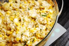 Mexican style corn and rice casserole- add chicken to this!