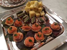 Salmon and Pate Horderves