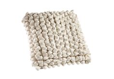 Big, bouncy and soft, our pebble cushion in white is really nothing like its name to lie on...