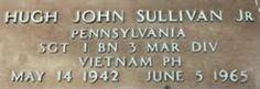 SGT Hugh Sullivan Jr USMC  1/3 Marines  Platoon SGT KIA June 5 1965 Quang Nam Vietnam hostile small arms fire +++you are not forgotten+++