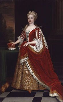 Caroline of Ansbach (1683 - 1737). Princess of Wales from 1714 to 1727, when she became queen. She was married to George II and had several children.