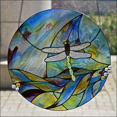 Stained Glass Dragonfly.
