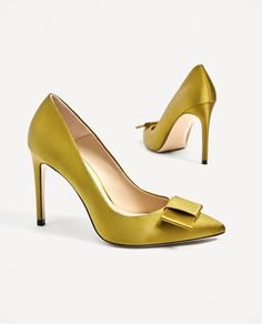 ZARA - COLLECTION AW/17 - SATIN COURT SHOES WITH BOW