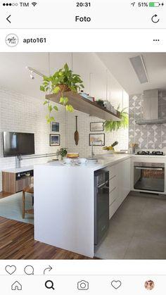 72 Kitchen Trends 2020 It's About Balance With Plenty Of Urban Flair 4 - onlyhomely Home Decor Kitchen, Kitchen Furniture, Home Kitchens, Kitchen Dining, Home Furniture, Kitchen Island, Bathroom Interior Design, Kitchen Interior, Latest Kitchen Designs