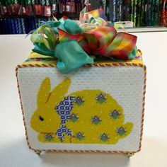 Sally G. stitched a cute bunny for Easter.