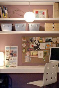 gold mirror closet office design sponge cozy home design interior Sibyl Colefax & John Fowler Interior Design and Decoration Canopy Bed: Mer. Feminine Office, Feminine Home Offices, Closet Desk, Closet Office, Closet Shelving, Home Office Design, House Design, Design Design, Design Hotel