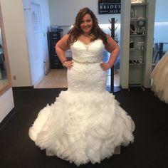 Plus size wedding dress #WeddingDressesPlusSize