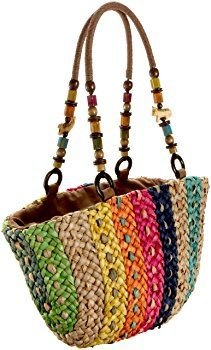 Cappelli 463 Beaded Handle Tote,Multi,one size