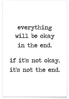 Everything will be okay als Premium Poster von Eulenschnitt | JUNIQE