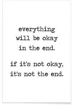 Everything will be okay als Premium Poster von Eulenschnitt | JUNIQE