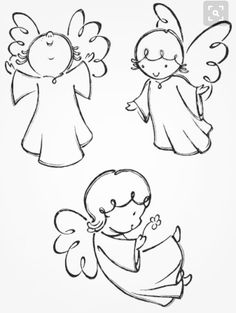 Variation of angel poses. Traced from my hand drawn artwork, properly… Variation of angel poses. Traced from my hand drawn artwork, properly grouped with high resolution jpg. Visit portfolio for More Valentines Series Lightbox Angel Sketch, Angel Drawing, Drawing Hands, Engel Illustration, Illustration Vector, Vector Art, Christmas Rock, Christmas Crafts, Christmas Angels