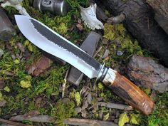 Beautiful custom Kukri with artifact alaskan ivory.