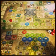 The Castles of Burgundy by Ravensburger. Photo by: @SHeartsOrRivals youtube.com/sweetheartsorrivals