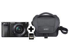 SONY A6000 (ILCE6000LBCDI)+Tasche+Speicherkarte Systemkamera
