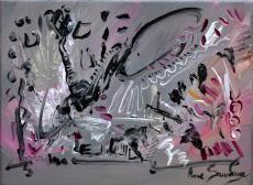 tableau contemporain de l'artiste peintre ame sauvage à découvrir sur ce lien http://www.amesauvage.com/artiste-peintre-contemporain-2/tous-les-tableaux/peinture-gris-rose-noir.html