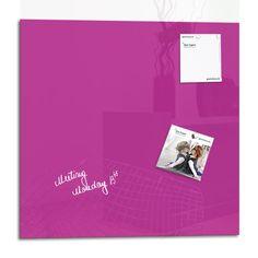 Smart Glass Board ® 48 x 48 cm, Pourpre, Tableau magnétique en verre / Mémo magnétique / Tableau d'affichage + 2 Aimants: Amazon.fr: Fournitures de bureau