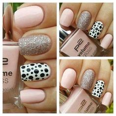 Great gallery of unique nail art designs of 2020 for any season and reason. The best images and creative ideas for your nails. Any color gamma. Hot Nails, Pink Nails, Hair And Nails, Sparkle Nails, Blush Nails, Pastel Nail, Sexy Nails, Neutral Nails, Glitter Nails