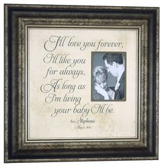 Mother of the Bride I'll LOVE YOU FOREVER by PhotoFrameOriginals, $89.00