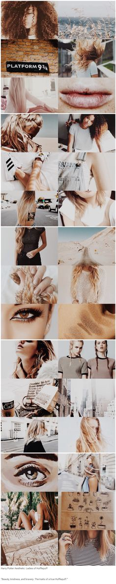"""foundinghouses: Harry Potter Aesthetic: Ladies of Hufflepuff 