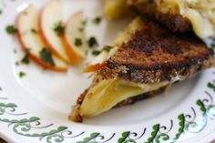 Red Hawk and Apple Crisp Grilled Cheese | Saffron and Honey