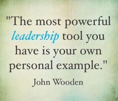 leadership..by personal example..