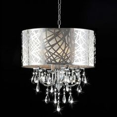 4-light Chrome Crystal Chandelier | Overstock.com Shopping - The Best Deals on Chandeliers & Pendants  $184.49