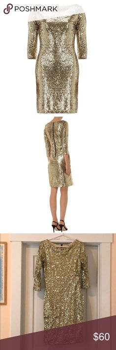 Alice & You Gold Sequin dress New, never been worn! Alice & You Dresses